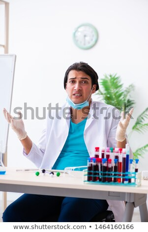 Man wetenschapper fout lab illustratie naar Stockfoto © lenm