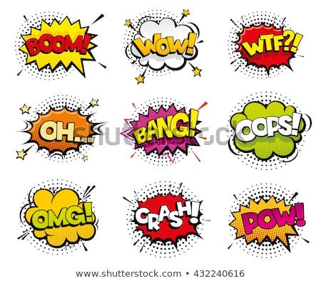 pow explode cartoon illustration Stock photo © romvo