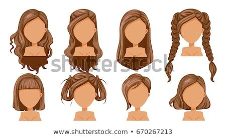 Braid hair isolated. Vector illustration hairstyle Long hair Stock photo © popaukropa