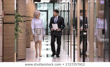 成熟した ビジネスマン 男 作業 背景 ストックフォト © Minervastock