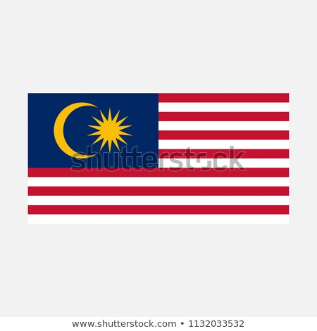 Simple vector Malaysian flag for your infographics, documents and templates isolated on a grey backg Stock photo © kurkalukas