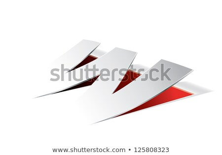 Red Folded Paper Letter W Vector Illustration Stock photo © cidepix