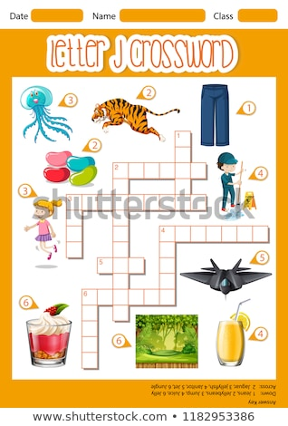Letter J crossword template Stock photo © bluering