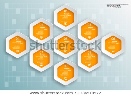 Diagrams and Charts on Framed Paper Vector Card Stock photo © robuart