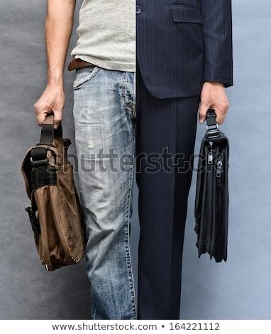 Iş adamı yarım takım elbise görüntü kravat Stok fotoğraf © Imabase