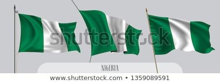 banderą · Nigeria · obraz · tekstury · papieru - zdjęcia stock © daboost