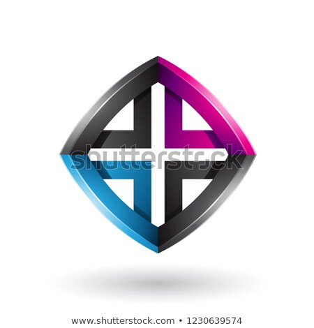 Blauw · zwarte · magenta · vierkante · brief - stockfoto © cidepix
