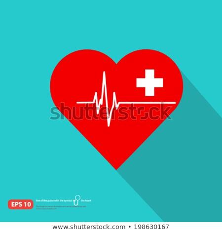 cuore · impulso · monitor · verde · griglia · medicina - foto d'archivio © imaagio