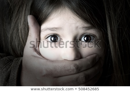 Bambina paura guardare faccia illustrazione bambino Foto d'archivio © colematt