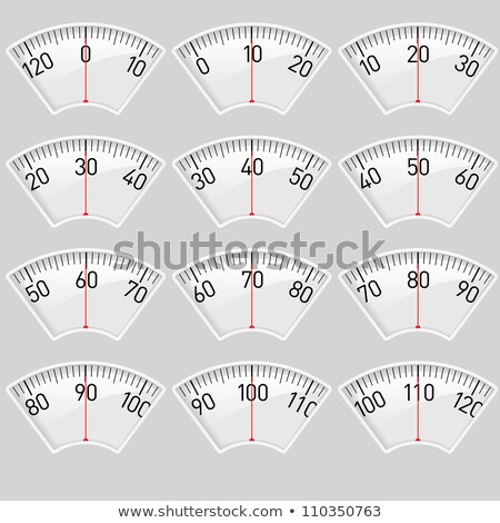 Scales with Pointer Numbers Vector Illustration Stock photo © robuart