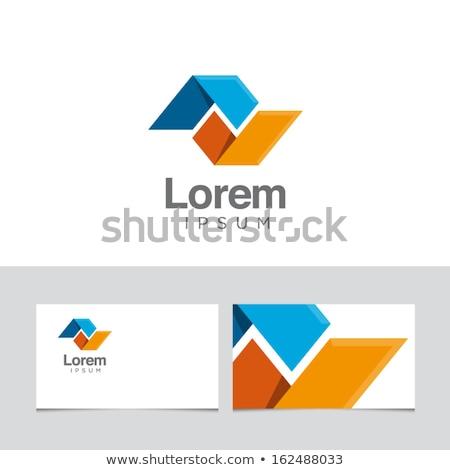 geometric square business logo with triangles symbol Stock photo © blaskorizov