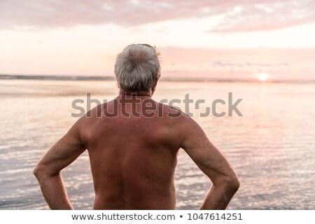 60-as évek férfi tengerpart jó idő kilátás Stock fotó © Lopolo