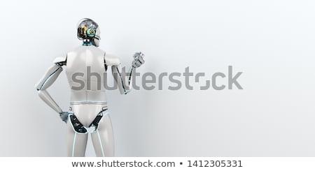 humanoide · robot · futurista · habitación · blanco · 3d - foto stock © limbi007
