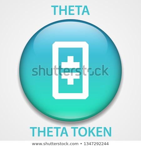 THETA - Theta. The Icon of Cryptocurrency or Market Emblem. Stock photo © tashatuvango