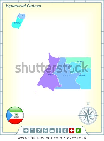 House with flag of equatorial guinea Stock photo © MikhailMishchenko