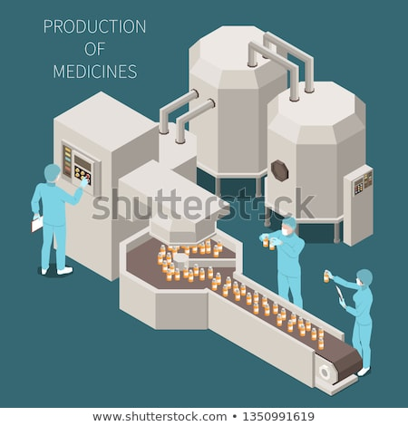 Chemical color isometric concept icons Stock photo © netkov1