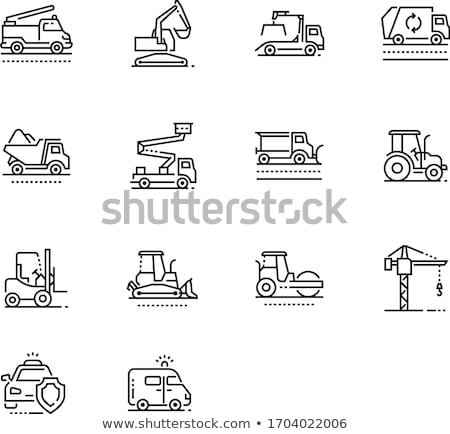 építkezés gépek kotrógép szállítás vektor jármű Stock fotó © robuart