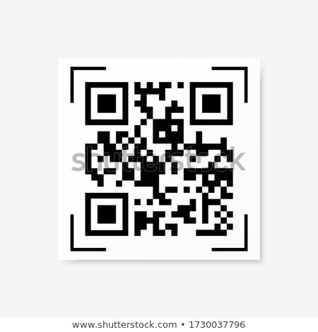 qr code abstract vector modern bar code sample for smartphone scanning isolated on white background stock photo © essl