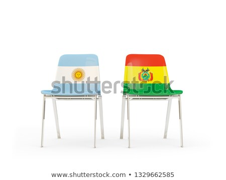 Two chairs with flags of Argentina and bolivia Stock photo © MikhailMishchenko