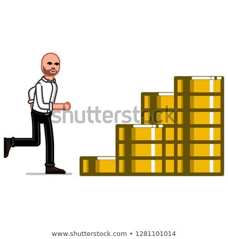 Zakenman munten trap eps 10 business Stockfoto © netkov1