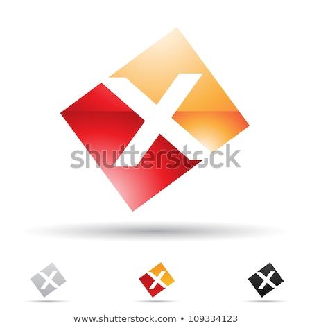 oranje · Rood · icon · brief · vector · illustratie - stockfoto © cidepix