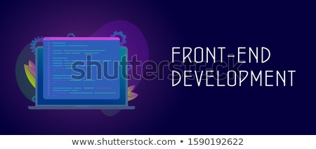 Front end development it header or footer banner Stock photo © RAStudio