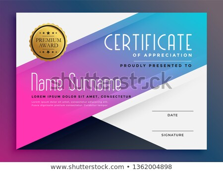 stylish vibrant certificate of appreciation template  Stock photo © SArts