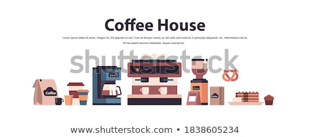 Stock fotó: Set of various coffee machines and tools