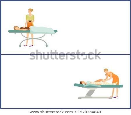Chocolate body Spa and Legs Wrap in Spa Salon Web Stock photo © robuart