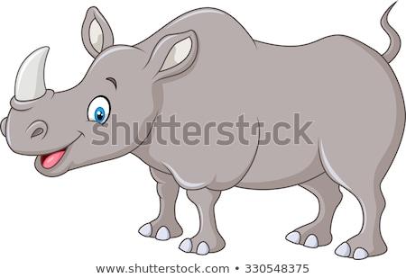 Feliz rinoceronte natureza ilustração fundo Foto stock © bluering