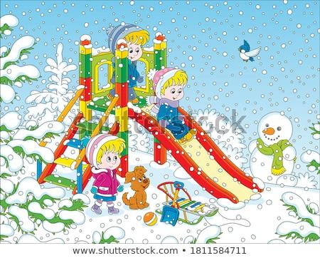 счастливым · мало · мальчика · играет · снега · зима - Сток-фото © dolgachov