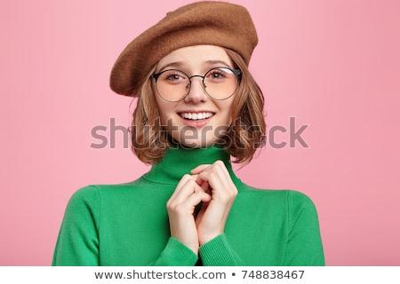 緑 服 眼鏡 セット 少女 ストックフォト © toyotoyo