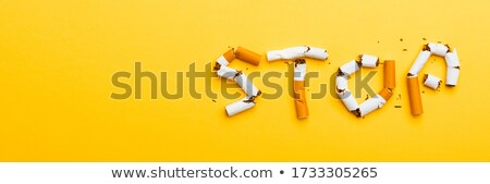 Stock photo: World No Tobacco Day Banner Isolated on Yellow