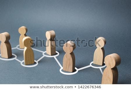 Sosyal iletişim siluet uzman sosyal ağlar Stok fotoğraf © ConceptCafe