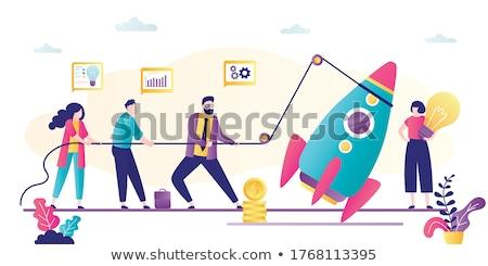 novo · negócio · foguete · decolagem - foto stock © robuart