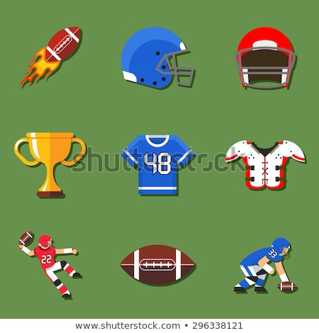 American Football Icon Shield Collection Set Stock photo © patrimonio