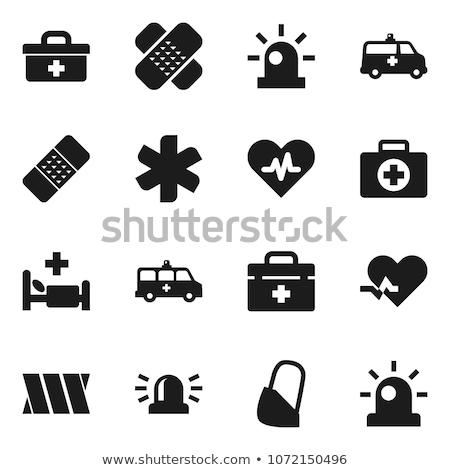 Ilk yardım vektör ikon yalıtılmış beyaz düzenlenebilir Stok fotoğraf © smoki