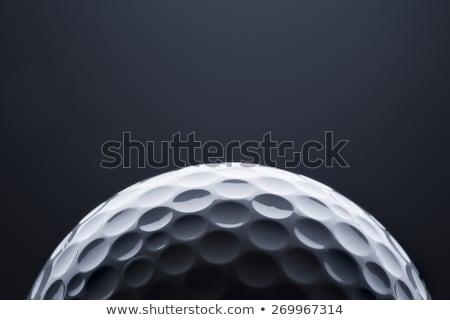 マクロ ゴルフボール 暗い 青 スペース 文字 ストックフォト © lichtmeister
