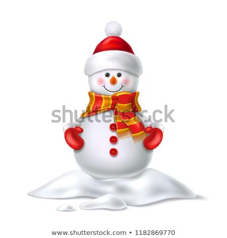 Pupazzo di neve muffole capodanno tradizionale Foto d'archivio © Kotenko