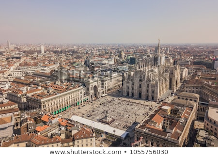 Architecture on roof of Duomo cathedral Stock photo © vapi