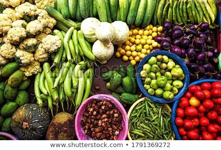 разнообразие овощей рынке текстуры рыбы лист Сток-фото © galitskaya