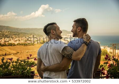 Pár kettő homoszexuális férfiak illusztráció szex Stock fotó © adrenalina