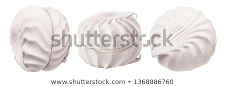 close up of white zephyr dessert Stock photo © dolgachov