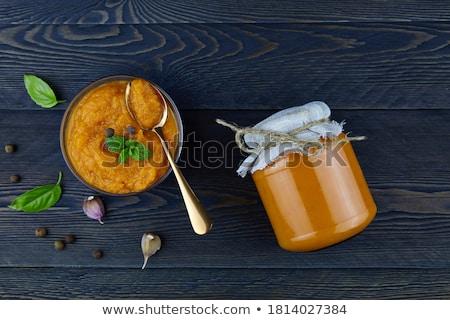 Sebze havyar kabak çanak gıda yaz Stok fotoğraf © tycoon