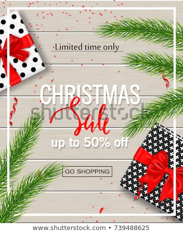 Gift Card Final Xmas Sale, Winter Flyer Vector Stock photo © robuart