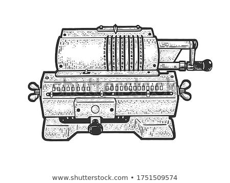 Adding black ink into printing machine Stock photo © pressmaster