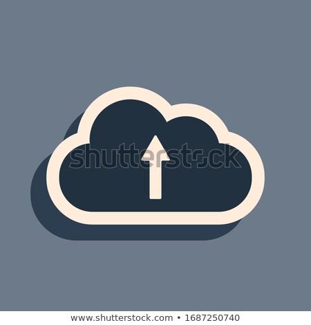 Lange Datenspeicherung Symbol Vektor Gliederung Illustration Stock foto © pikepicture