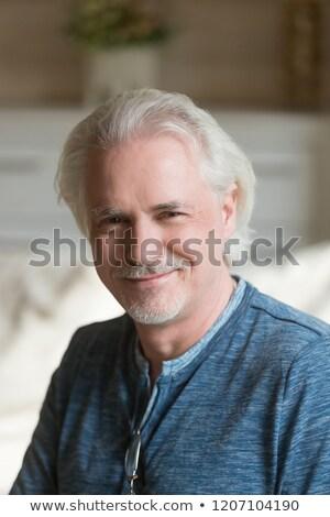 Függőleges portré kellemes néz férfi fotó Stock fotó © vkstudio
