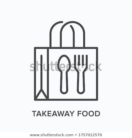 take food home icon vector outline illustration Stock photo © pikepicture