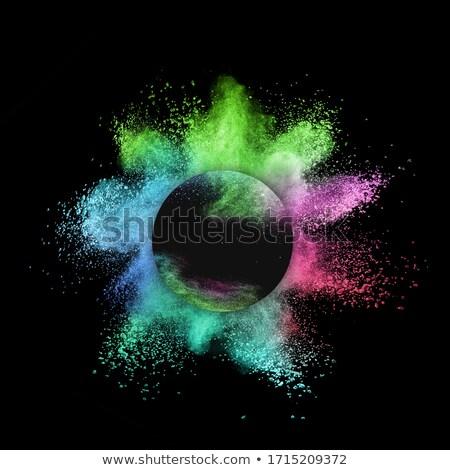 Caótico pó explosão preto decorativo Foto stock © artjazz